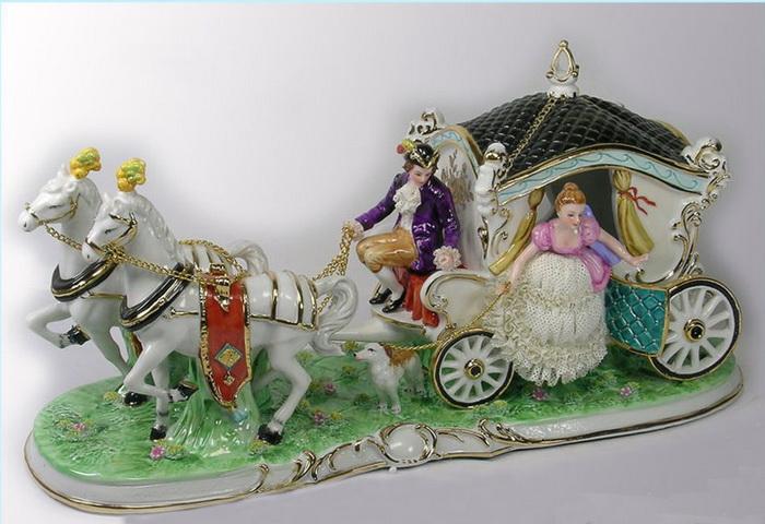 Антиквариат: статуэтки из фарфора Германия. Балерины, собаки, музыканты