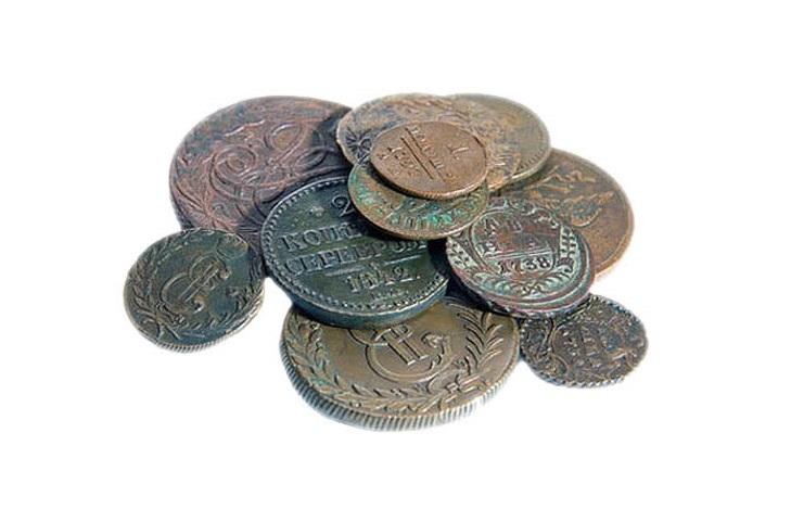 Как очистить найденные в земле монеты