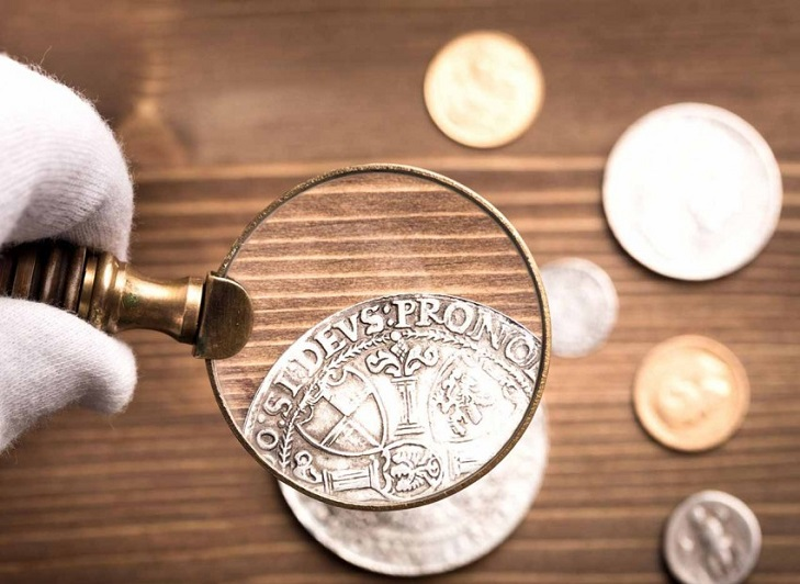 Подготовка к очистке монет