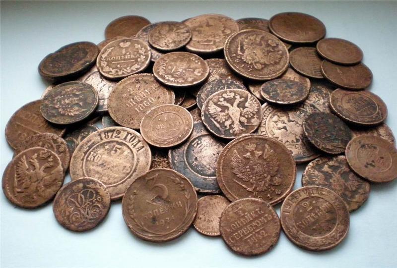 Старинные монеты России стоимость каталог цены фото разновидности