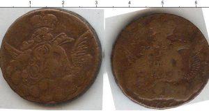 1 копейка 1756 года фото