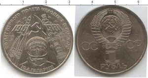 1 рубль (2) 1981 года фото