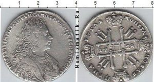 1 рубль 1728 года фото