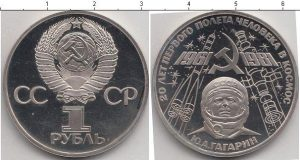 1 рубль (3) 1981 года фото