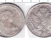 1 рубль 1738 года фото