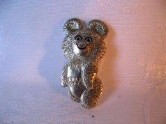 Значки Мишка Олимпийский 1980 года, цена
