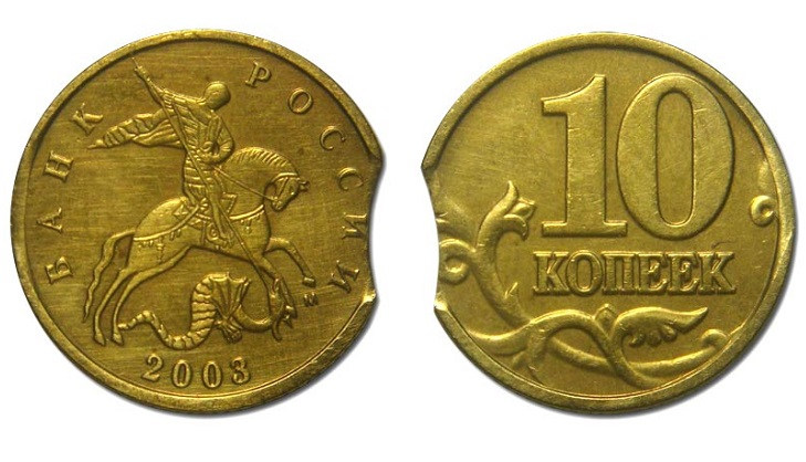 Выкус монеты