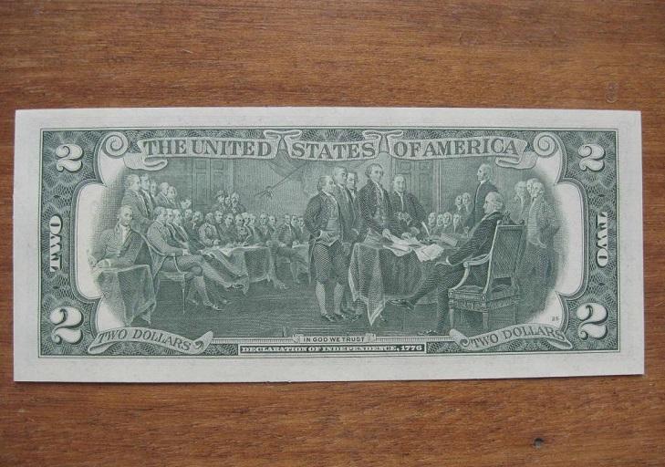 Банкнота 2 доллара США 1976