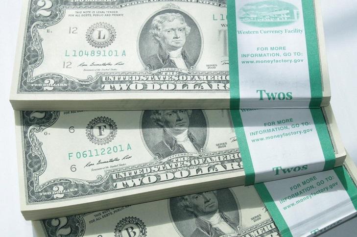 Популярность банкноты 2 доллара