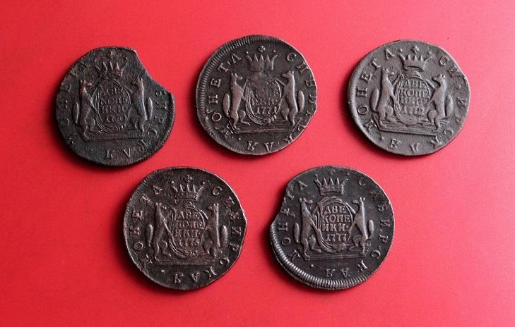 Внешний вид сибирских монет