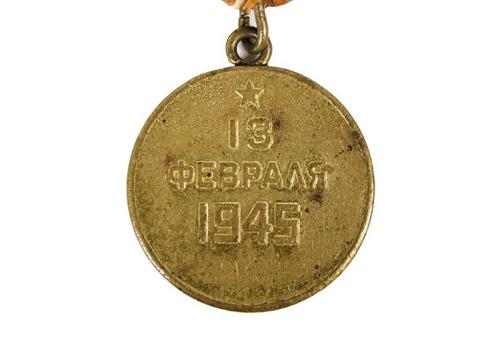 Как выглядит медаль За взятие Будапешта