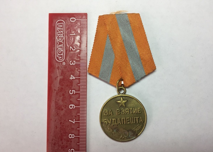 """Внешний вид медали """"За Будапешт"""""""