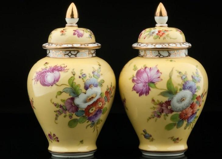 Дрезденские фарфоровые вазы