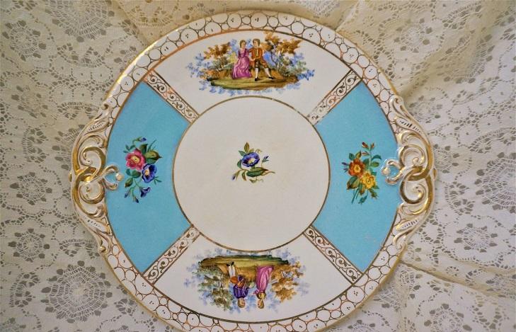 Тарелка Дрезденский фарфор