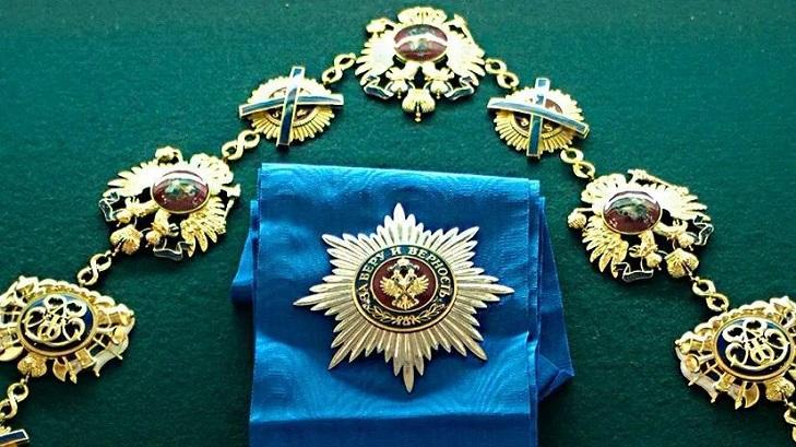 Ношение Ордена Андрея Первозванного
