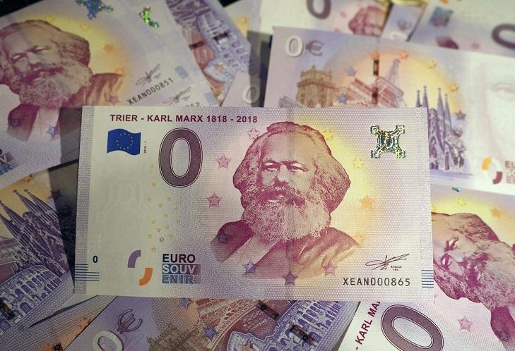 Банкнота 0 евро Карл Маркс