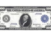 Банкнота 1000 долларов