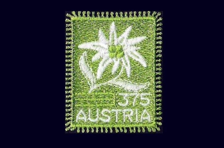 Вышитые марки Австрии