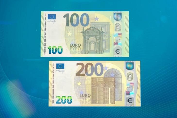 Новые купюры 100 и 200 евро