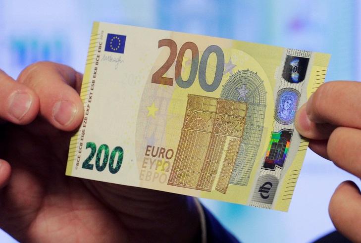 Изменение купюры 200 евро