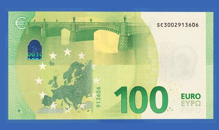 Изменения купюры новых евро