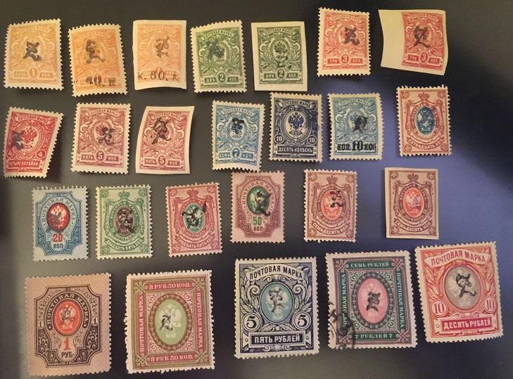 Марки Армении 1919