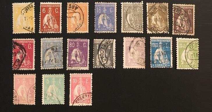 Почтовые марки Португалии серия Жница