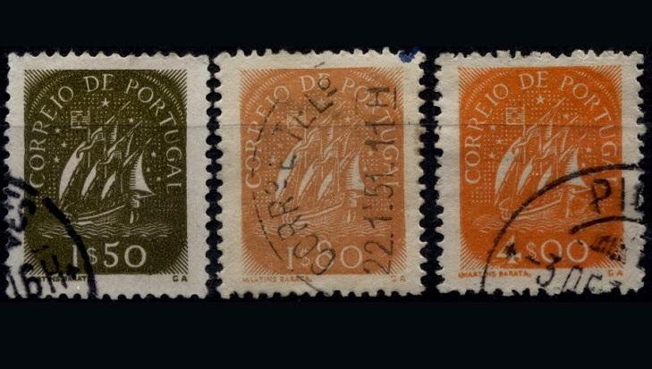 Почтовые марки Португалии серия Каравелла