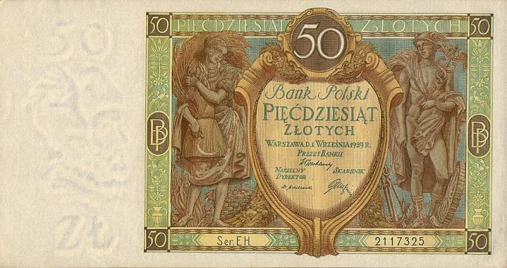 Банкноты Польши 1939