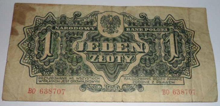 Польские банкноты 1944 года