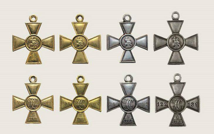 Степени Георгиевского креста