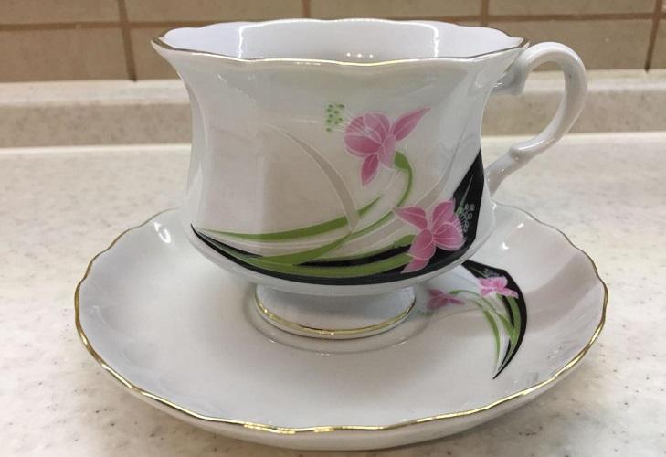 Чайная пара из коростенского фарфора