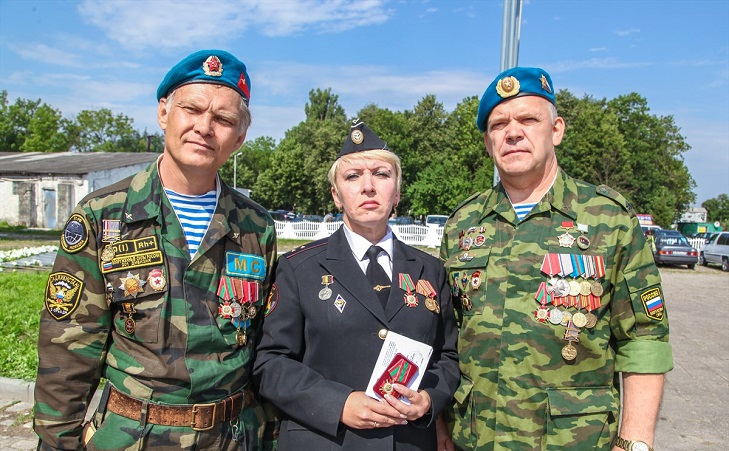 "Вручение медали ""За службу в Таджикистане"""