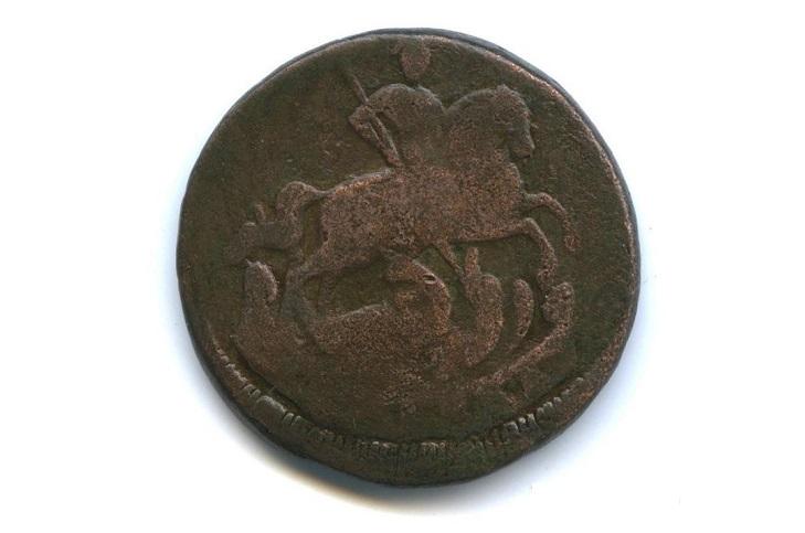 Медная 1 копейка 1760 года