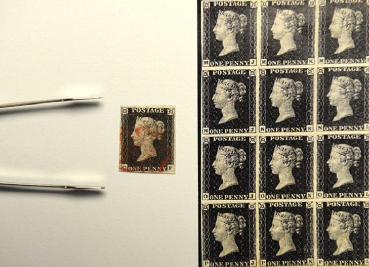Первая почтовая марка в мире
