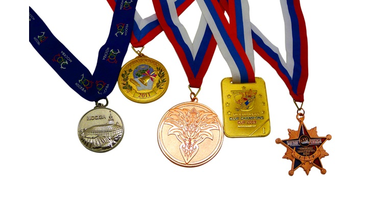 Медаль с креплением на ленте