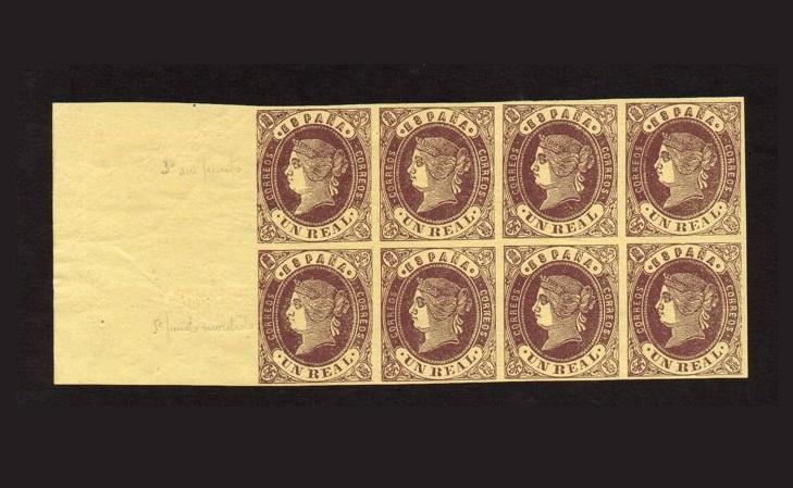 Первый выпуск испанских почтовых марок