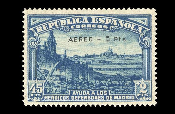 Испанские марки 1938 года