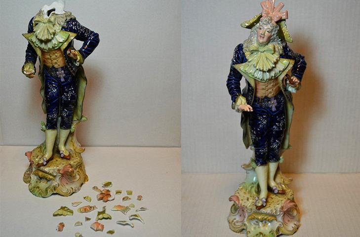 Реставрация антикварной фарфоровой статуэтки