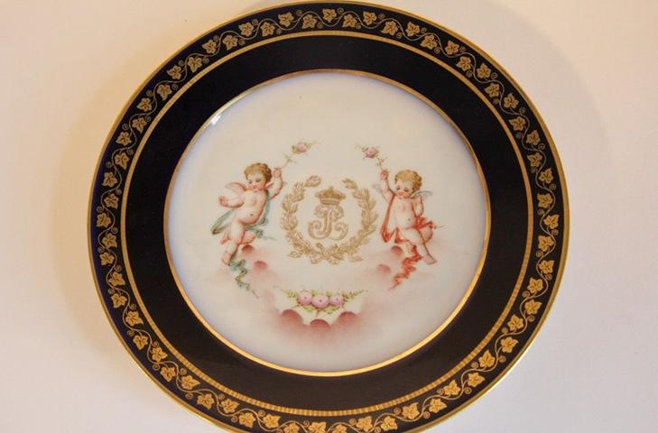 Тарелка Севр, фарфор Франция, 1846 год