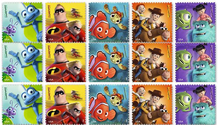 Серия марок: Пиксар, 2012