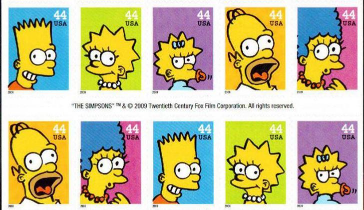 Серия марок: Симпсоны, 2009