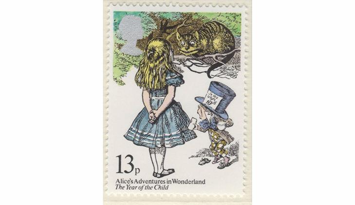 Серия марок: Алиса, Чеширский кот и Шляпник, 1979