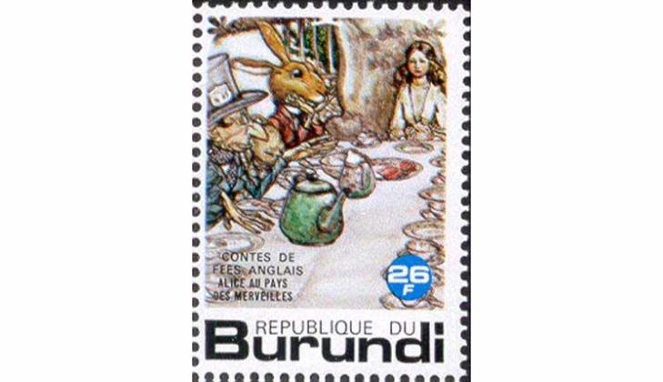 Серия марок: Безумное чаепитие, 1977