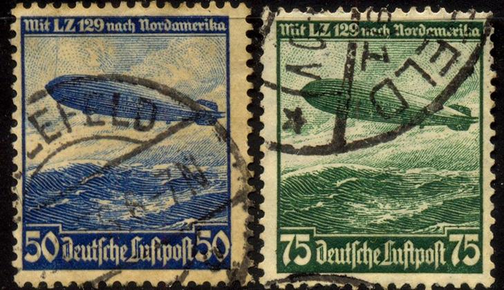 Немецкие марки серии Цеппелины