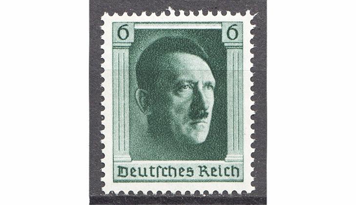 Первая марка с изображением Гитлера 1937 год