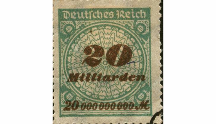 Немецкие марки во время инфляции 1920 года