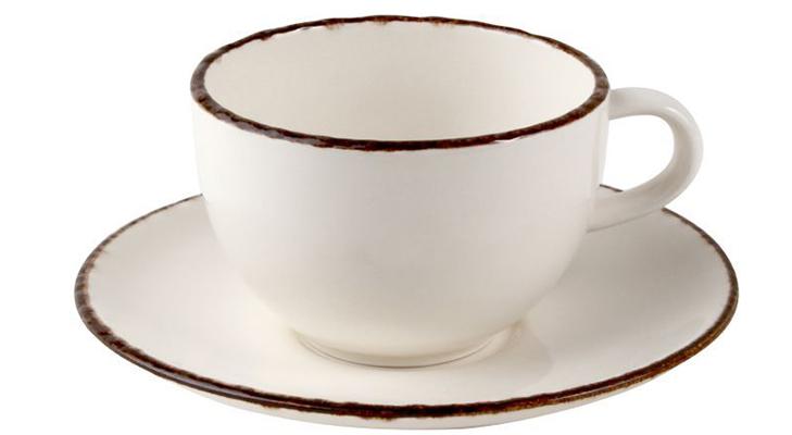 Кофейные пары из фарфора для капучино