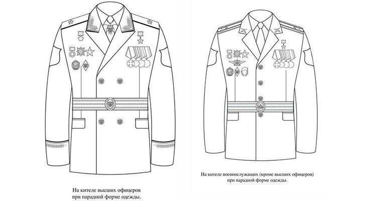 Правила ношения орденов и медалей СССР