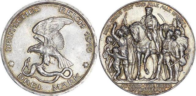 Серебряные монеты Германии